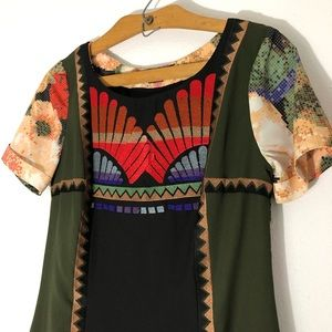 Ranna Gill for Anthropologie pixel dress sz 4